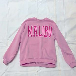 -pink sweatshirt. -keeps you warm morning and night amazing for winter!